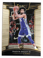 2018-19 Panini Select Marvin Bagley III RC # 15 Kings Base Concourse Rookie 🔥
