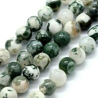 Agate 8mm Beads Natural Tree 1 Strand Approx 47 Pieces