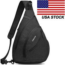 Men's Women's Large Sling Pack Chest Cycle Satchel Backpack Single Shoulder Bag