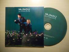 MINOU : ALPHALOVE *PROMO FR* [ CD EP ]