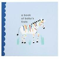 "Rainbow Zebra Baby Memory Book, ""A Book Of Baby's First,"" By C.R. Gibson NEW"