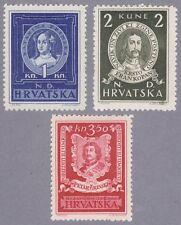 Kroatien 1943 Mi.Nr. 103-105 postfrisch