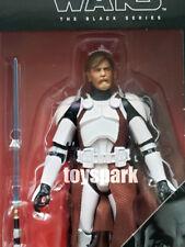 """Hasbro Star Wars 6"""" Pulgadas Negro Serie Clon Comandante Figura Obi-Wan Kenobi"""