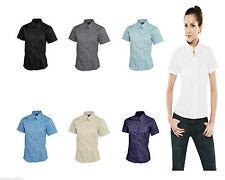 Women's Cotton Button Down Collar Business Tops & Shirts