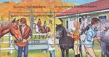 Finland 1990 MNH - Youth Hobbies - Horse Riding and Horses - Issued October 9