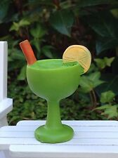 Miniature Dollhouse FAIRY GARDEN ~ Sea BEACH Island GREEN Tropical Drink