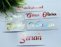 Custom Name Stickers Envelope Seals Wedding party Bridesmaid Bridal Decals 219
