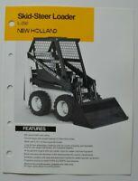 NEW-HOLLAND Tractor L-250 Skid-Steer Loader 1987 dealer brochure - English - USA