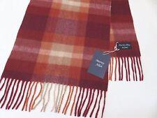 Murray Allan cashmere scarf burgundy orange brown beige NEW mens womens ladies