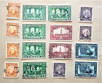 CANADA LOT OF 16 CONFEDERATION 60th ANNIVERSARY STAMPS 1927 - USED ---- [190]