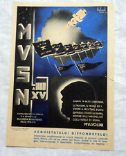 M.V.S.N.  -  PUBBLICITA CALENDARIO MILIZIA  Anno XV