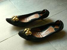 Scarpe nere pelle CHLOE' golden black ballet flats Sienna Miller 38.5