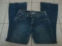 Womens SILVER flare jeans, 30/31 30