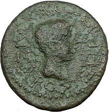 AUGUSTUS & RHOEMETALKES PYTHODORIS 11BC Ancient Roman Coin i33733