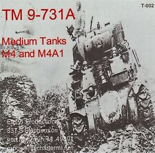 T002 TM 9-731A M4 and M4A1 Early Sherman, Easy 1 Productions