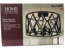 Home Decorators Collection Tessali 3-Light Bronze Flush Mount EUC