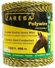 NEW Fi-Shock PW1320Y9-FS Electric Fence Poly Wire, Yellow, 1320 & # 039 6273916
