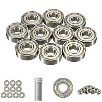 15 Pcs 608-ZZ Ball Bearing Dual Sided Metal Shielded Deep Groove 8X22X7mm