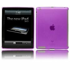 Purple Soft Tough Smart Gel Case compatible with Smart Cover for Apple iPad 2 3