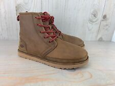 UGG HARKLEY 1017238  WATERPROOF LACE UP GRIZZLY LEATHER BOOTS MENS US 13 NIB