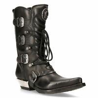 STEEL GROUND Chaussures Cuir Noir Vert Léopard Cheveux Creepers Moine Boucle