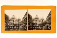 Italia Venezia Palais Dei Doge c1900 Foto Stereo Vintage Analogica