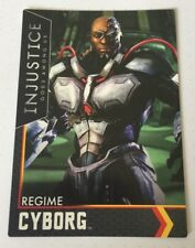 Injustice Justice League Gods Among Us Arcade Game Trading Card Cyborg Regime 18