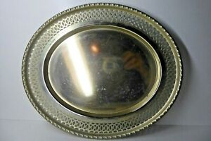 VINTAGE OVAL SERVING DRINKS TRAY EPNS SILVER PLATE