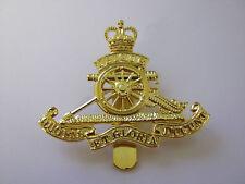 Royal Artillery Beret Cap Badge  British Army - Brass Base Metal
