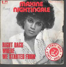 "45 TOURS / 7"" SINGLE--MAXINE NIGHTINGALE--RIGHT BACK WHERE WE STARTED FROM--1975"