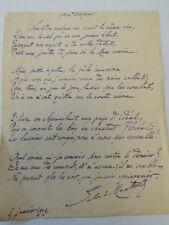 """JULES DE MARTHOLD / Poème autographe """" AUX DISPARUS """" ( 1847-1927)"""