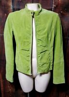 Wilsons Leather Maxima Green Suede Leather Women's Jacket Size M