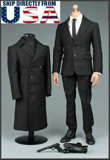 1/6 James Bond 007 Agent Suit Overcoat Set For Hot Toys Phicen Male Figure USA