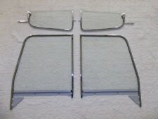 1955-1959 CHEVROLET GMC PICKUP TRUCK VENT & DOOR GLASSES W/FRAMES CLEAR