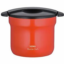 THERMOS Vacuum Thermal Insulation Pot Cooker 4.3L tomato KBF-4501 TOM Japan.