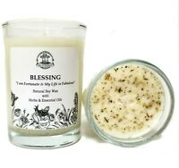 Blessing Affirmation Soy Candle Prosperity Abundance Well Being Wiccan Pagan