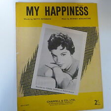 song sheet MY HAPPINESS Connie Francis 1948