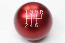 "Universal Billet Aluminum Red 6 Speed Manual Shift Knob 2.25"" M16x1.5"