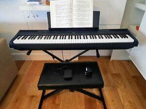 Yamaha P 115 digital piano 88 keys weighted with pedal, Stagg stand  and stool
