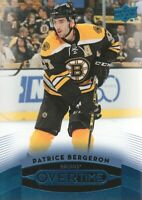 2015-16 Upper Deck Overtime Blue #28 Patrice Bergeron Boston Bruins
