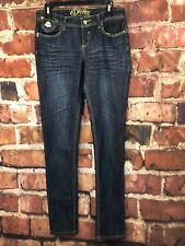 Denim Jeans Dereon High Waist Curvy Fit  Washed Dark Blue Size 7/8 Reg