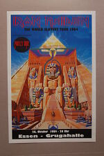 Iron Maidon Concert Tour Poster 1984 Essen Germany Grugahalle Motley Crue