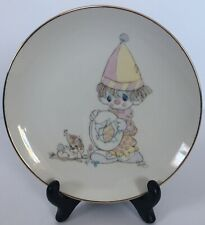 "Vintage ""Look Before We Leap� Precious Moments Collector's Plate, Clown with Dog"