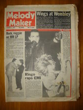 MELODY MAKER 1976 OCT 2 BEATLES RINGO WINGS THE DAMNED