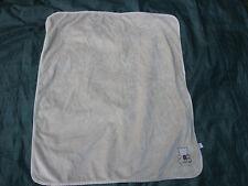 Carters Tan Beige Snoozysnug Patchwork Bear Baby Blanket Satin Carter's Brown