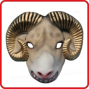 GOAT SHEEP LAMB MASK-ANIMAL COSTUME-DRESS UP-PARTY-HALLOWEEN-COSPLAY