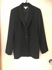 Sussan Women Black Work Suit Jacket Size 10 Great Condition