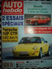 revue auto-hebdo  PORSCHE 911 RUF CTR / LANCIA DELTA INTEGRALE 16V / 1989 n°676