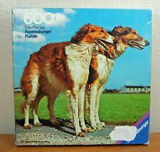 Vintage 1974 Otto Maier Ravensburger 600 piece Puzzle Windhunde Borzoi Dogs USED