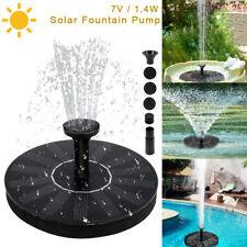 1.4W Solarpumpe Springbrunnen Teichpumpe Garten Brunnen Fontäne Wasserspiel Akku
